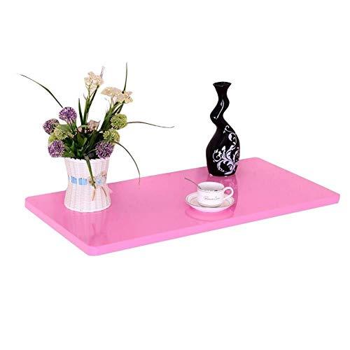 Wangczdz An der Wand befestigter Tischplattenlaptop-Standplatz-Klapptisch-Balkon-Rahmen-Holzverkleidung (Color : Pink, Size : 80x40cm)
