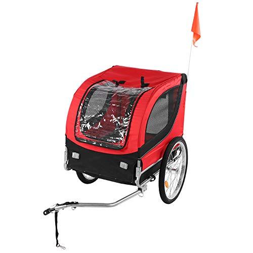Remolque para Bicicletas Remolque para niños Remolque para Perros y Mascotas Remolque para Bicicletas para Mascotas Remolque para Bicicletas de Seguridad para Acampar Senderismo Caminar Ciclismo