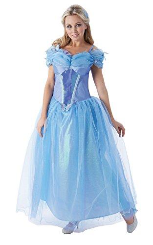 Princesas Disney - Disfraz de Cenicienta para mujer, talla S adulto (Rubie's 810202-S)