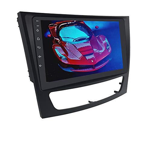 Navigazione GPS per auto Android 10 adatta per Mercedes Benz: E-W211 / G-W463 / CLK-W209 / CLS-W219, autoradio doppia din con touch screen da 9 pollici Supporto per il controllo del volante
