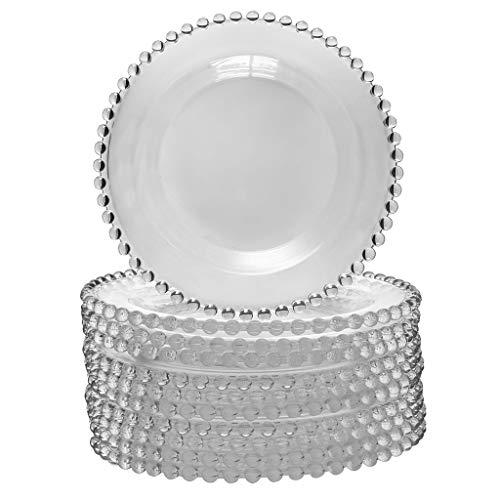 Dibor - French Style Accessories for the Home Bella Lot de 10 Assiettes à Dessert en Verre de Luxe