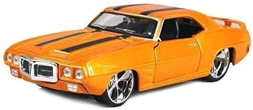 WASHULI 1:24 Scale 1969 Pontiac Firebird Muscle Car Model, Static Simulation Alloy Car Die-Casting Car Model, Door and Hood Can Be Opened, 20.2×8.5×5.4CM