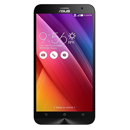 Asus Zenfone 2 - ZE551ML - Smartphone libre Android (pantalla 5.5' Full-HD, cámara 13 Mp, memoria interna de 32 GB, Intel Atom Z3580 Quad Core 2.3 GHz, 4 GB de RAM, dual SIM) color negro