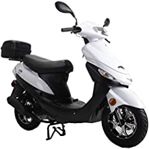 X-PRO 2020 Version Maui 50cc Moped Scooter Gas Moped Scooter Motorcycle 50cc Adult Scooter Aluminum Wheels (White)