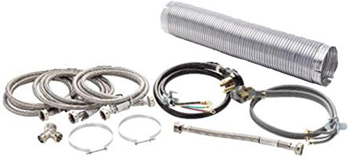 Superior Brands Washer & Electric Dryer Install Kit with Power Cord, Y Adapter, Fill Hoses, Vent & Vent Clamp