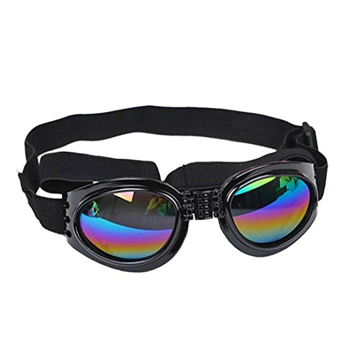Pecute Fashion Pet Dog Cat UV Protective Foldable Lenses Eye Wear Protection Goggle Sun Glasses...