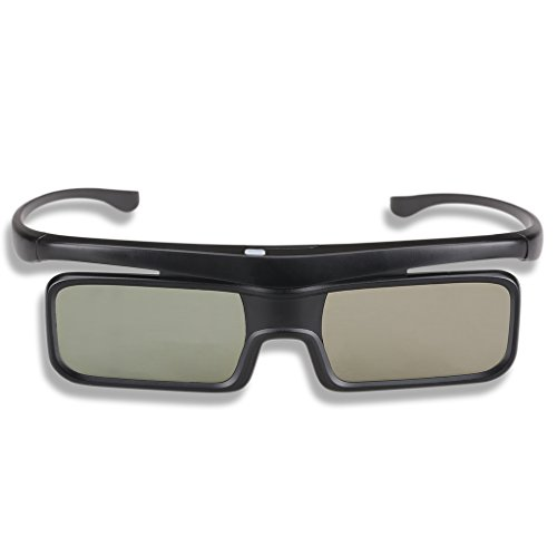 Excelvan GH1600RF1 Black 3D Active Shutter TV Glasses BT (Bluetooth), Compatible with Most Samsung/Panasonic/Sony/TCL/Hisense/Sharp/TOSHIBA 3DTV