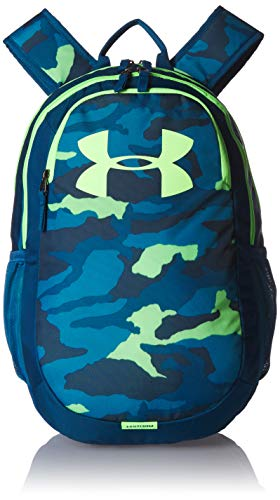 Under Armour Adult Scrimmage Backpack 2.0 , Teal Rush (454)/Lime Light , One Size Fits All