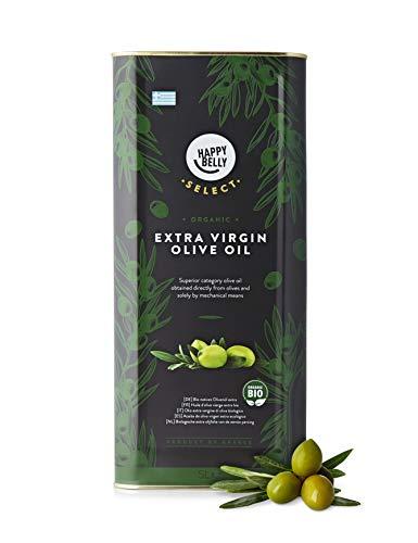 Marque Amazon - Happy Belly Select Huile d'olive BIO extra vierge grecque, 5 L