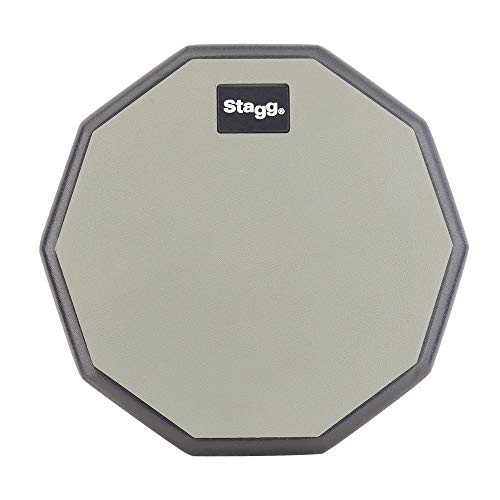 STAGG TD-08R Ten-Sided Shape Desktop Practice Pad, 8-Inch