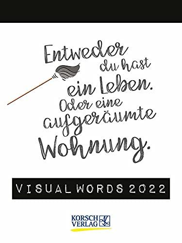 Visual Words 2022: TypoArt Tages-Abreisskalender
