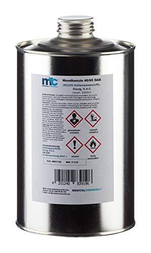 Medicalcorner24 Wundbenzin 40/65, Reinigungsbenzin, Leichtbenzin, UN3295, flüssiges Lösungsmittel, 1 L