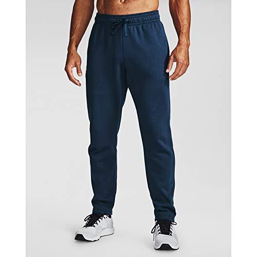 Under Armour Men's Rival Fleece Pants , Academy Blue (408)/Onyx White , Large