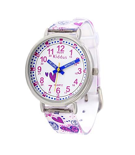 KIDDUS Montre Bracelet Éducative pour Enfants, Fille. Time...