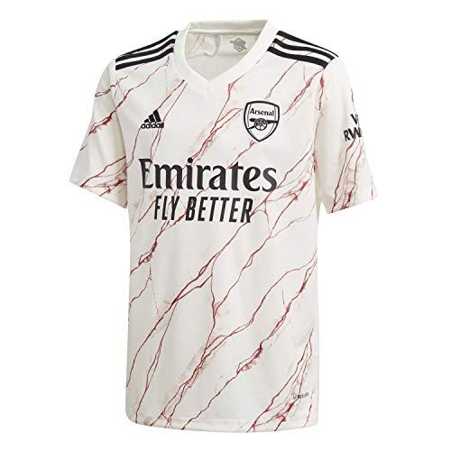 adidas Kinder Trikot Arsenal FC Away Jersey 2020/21, Cloud White/Black, 152, FH7812