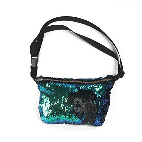 OULII ,  Hüfttasche blau / grün Approx. 15 * 23 * 3cm/ 6 * 9 * 1.2 inch