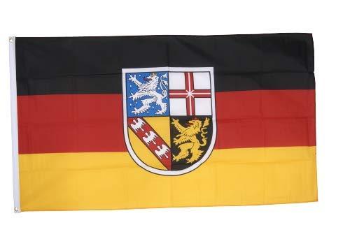 Flaggenfritze® Fahne Flagge Saarland 60 x 90 cm Premiumqualität