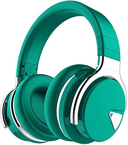 Cowin E7 Active Noise Cancelling Bluetooth Kopfhörer Over Ear Wireless Headphones mit Mikrofon, 30-Stunden-Spielzeit (Grün)