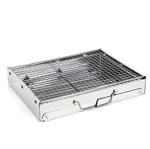HuiHang Draagbare, buitentuin, verstelbare Mobiele grill op weg naar de grill Mobiele barbecue Geschikt voor buitengebruik