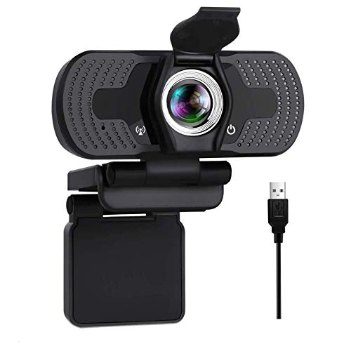 Aode USB Webcam with Microphone 1080P HD Streaming Webcam for PC MAC Laptop Plug and Play Web Camera for Youtube Studying Conference with Rotatable Clip Face Camera for Gaming Xbox Video Calls