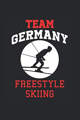 Team Germany Freestyle Skiing: Cool Animated Design For Ski Player Athletes Lover Any Occasion Notebook Composition Book Novelty