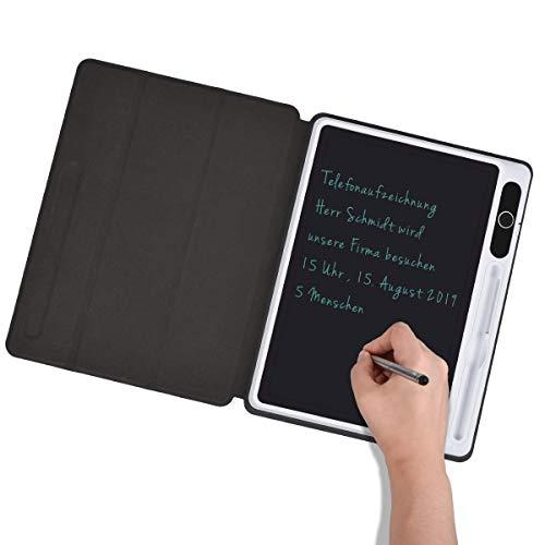 Upgrow LCD-Schreibtafeln 10.1 Zoll Elektronische Schreibtafel, Kinder Mahltafel Reißbrett LCD Zeichenbrett, Geschäftsmodelle LCD Writing Tablet mit Flip-Schutztasche (Grobe Handschrift)