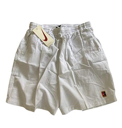 Nike Challenge Court Pantaloncini Tennis Bianco Pete Sampras Wimbledon Originale Vintage 1990 Uomo XL