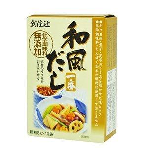 化学調味料無添加 和風だし一番 顆粒タイプ (8gx10包)×5箱セット (創健社 和風だし)