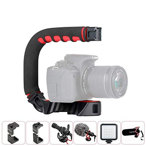 YWT Multi-Functie Triple Hot Schoen Montage Beugel Video Actie Stabiele Handvat Grip voor iPhone Samsung Canon Nikon Sony digitale SLR Camera/Camera