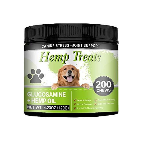 JJW Hemp Calming Treats for Dogs Helps with Dog Anxiety, Separation, Barking, Stress Relief, Thunderstorms - Natural Calming Relaxer for Aggressive Behavior Calming Chews for Dogs (1pack)