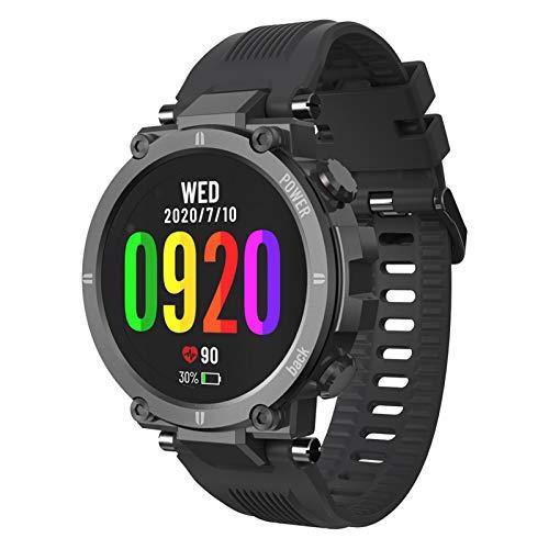 Rastreador de ejercicios con reloj inteligente, 1,3 pulgadas, pantalla táctil completa, reloj deportivo con monitor de ritmo cardíaco y sueño, contador de calorías, podómetro