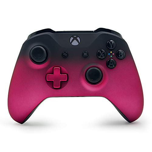 Deep Pink Shadow Custom Wireless Controller for Xbox One Console - Textured Grip - 3.5mm Headset Jack - Deep Pink D-pad - Grey on Black ABXY
