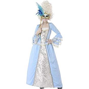 Atosa Disfraz de Veneciana Época Azul para niña 7 a 9 años: Amazon ...
