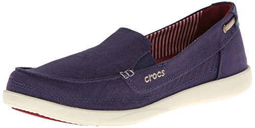 Crocs Women's Walu Loafers, Nautical Navy/Stucco, 8