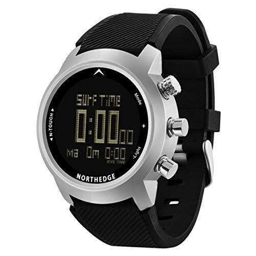 Männer Gesundheit Und Fitness Smart Watch, Außen Sport Multifunktions-Waterproof Tiefenmesser Altimeter Barometer Kompass Thermometer Pedometer Digitaluhr Für Tauchen Klettern