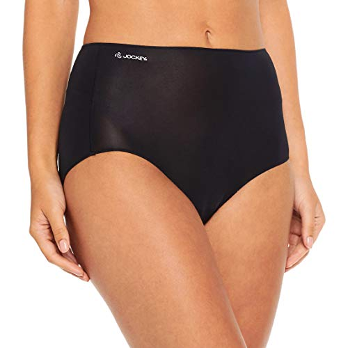 JOCKEY Women's Underwear No Panty Line Promise Full Brief, Black, 10