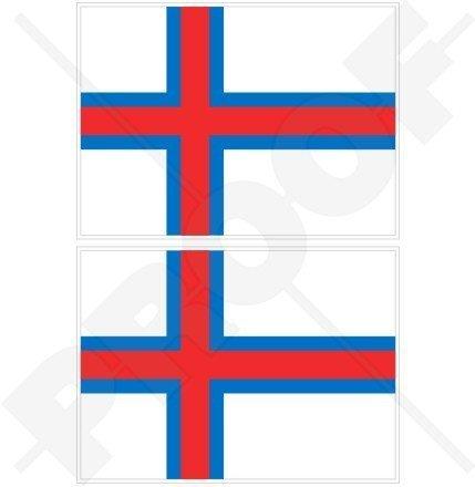 FÄRE INSELN Färöische Flagge, FAROES Färöer 110mm Auto & Motorrad Aufkleber, x2 Vinyl Stickers