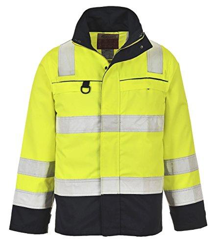 PORTWEST FR61 - Multinorm Warnschutz-Jacke, 1 Stück, M, gelb/marine, FR61YNRM