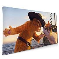 マウスパッド 長ぐつをはいたネコ (2) 大型マウスパッド ゲーミング 防水 滑り止マウスパッド ゲーミングマウスパッド かわいい マウスパッド大型 光るマウスパッド サイズ:90x40x0.3cm
