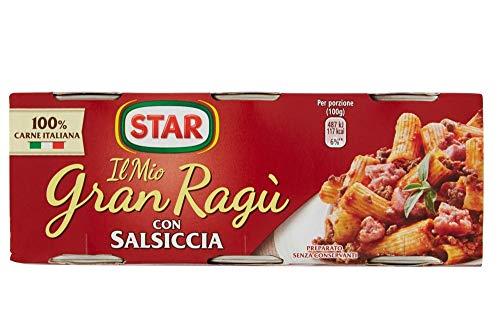 24x Il Mio Gran Ragù Star con Salsiccia tomatensauce sauce mit italienischer Wurst Tomatensuppe Pastasauce 3x100g