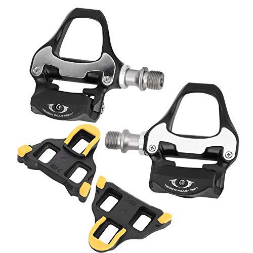 Demeras Juego de tacos de repuesto para bicicleta de carretera con bloqueo automático de aleación de aluminio para bicicleta de carretera y bicicleta de carretera