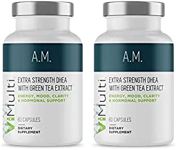 New Look! ViMulti AM (2-pk) Extra Strength DHEA Supplement for Men & Women. Clinically Proven. Promotes Increased Energy, Improved Mood, Sharper Mental Clarity & Hormonal Balance