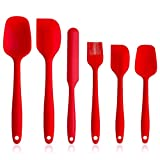 Silicone Spatula Set - 6 Piece Spatula Set,Heat-Resistant Kitchen Utensil Set Cooking Tools