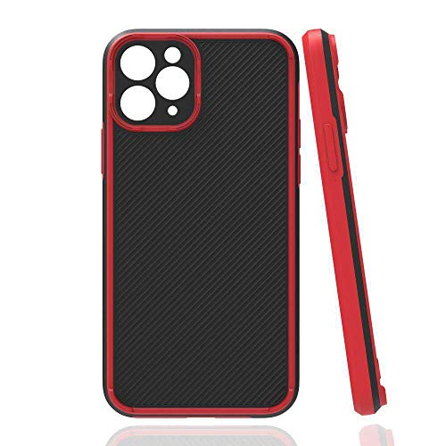 KANGHAR Compatible with iPhone 12 Pro Rugged Case Camera Lens Protector Heavy Duty Non Slip Slim Fit Hard Cover Shockproof Protective Case Support Wireless Charging for iPhone 12 Pro 6.1 inches Red