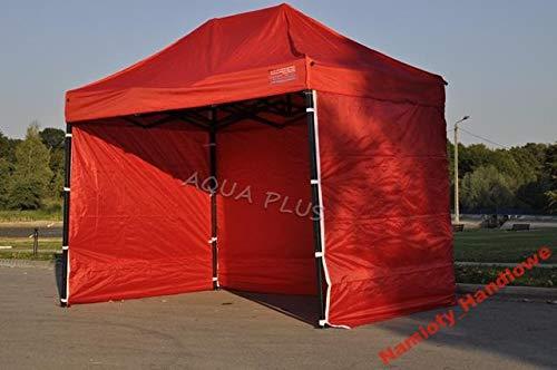 Bastionshop Marktzelt Expresszelt 2x2m Marktstand Faltzelt Messestand Pavillion Gazebo, Wasserdicht und mit UV-Schutz (Rot)