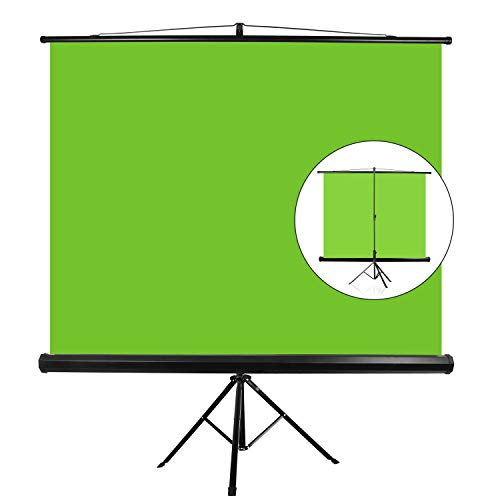 """EMART 107"""" Green Screen Stand, Professional Chromakey Background with Auto-Locking Frame, Collapsible Portable Wrinkle Free Screen with Adjustable Tripod, Fast Fold Designed for Game, Stream, Video"""