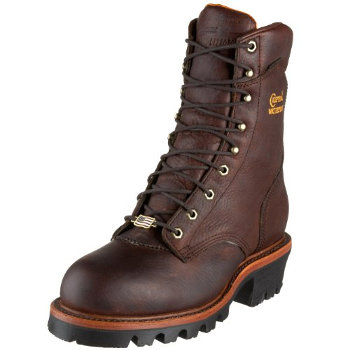 "Chippewa Men's 9"" Waterproof Insulated Steel Toe EH 25420 Logger Boot,BriarPitstop,9 E US"