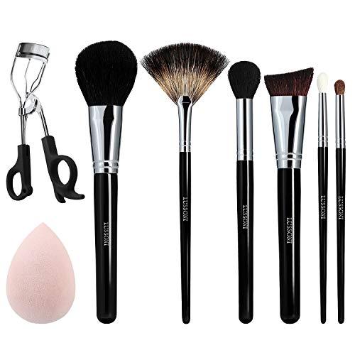 T4B LUSSONI Glow Maker 8 pcs Pinceaux Maquillage Professionnel, Eponge, Recourbe-cils