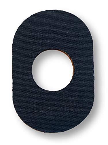 FixTape atmungsaktives Sensor-Tape für Freestyle Libre 1 & 2 I selbstklebendes Patch mit Loch für Glukose-Sensor I besonders hautfreundlich und wasserfest in modernen Designs I 7 Stück (Schwarz)