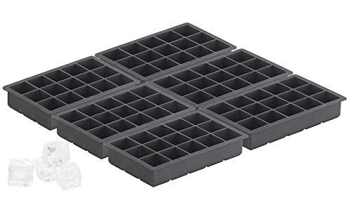 PEARL XXXL-Eiswürfelform: Silikon Eiswürfelform für 15 kleine Würfel 3x3x3cm, 6er Set je 500ml (Silikon-XL-Eiswürfelform)